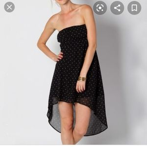 On Neill strapless dress